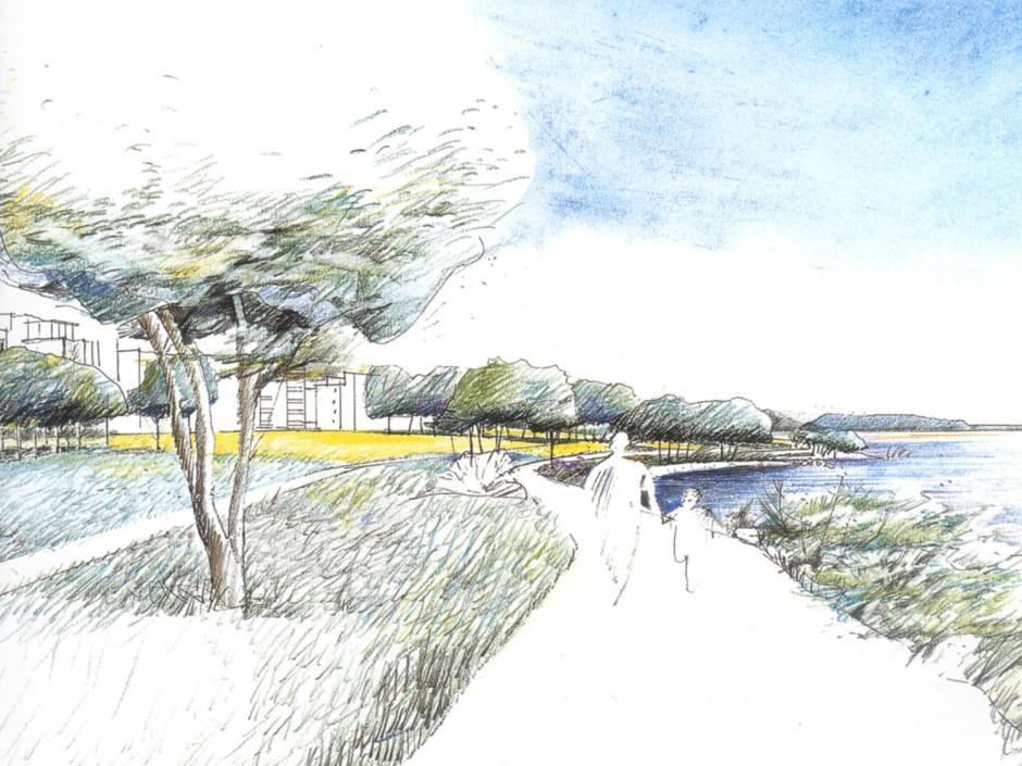 Arabianrannan-Toukolan rantapuisto, Kaj Franckin katu